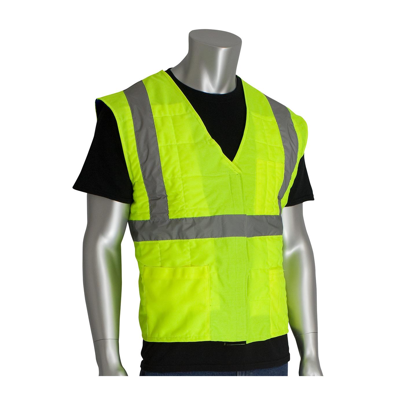 Evaporative Cooling Clothing : Pip ez cool hi vis flash evaporative cooling vest