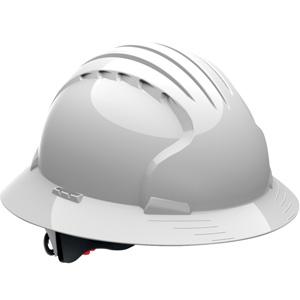 top impact test on full brim hard hat
