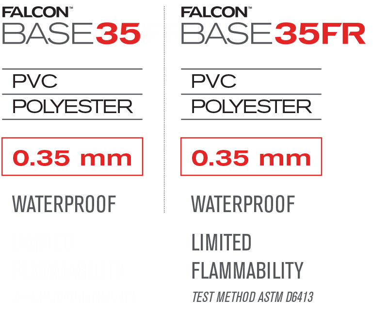 Falcon BASE35 and BASE35FR material