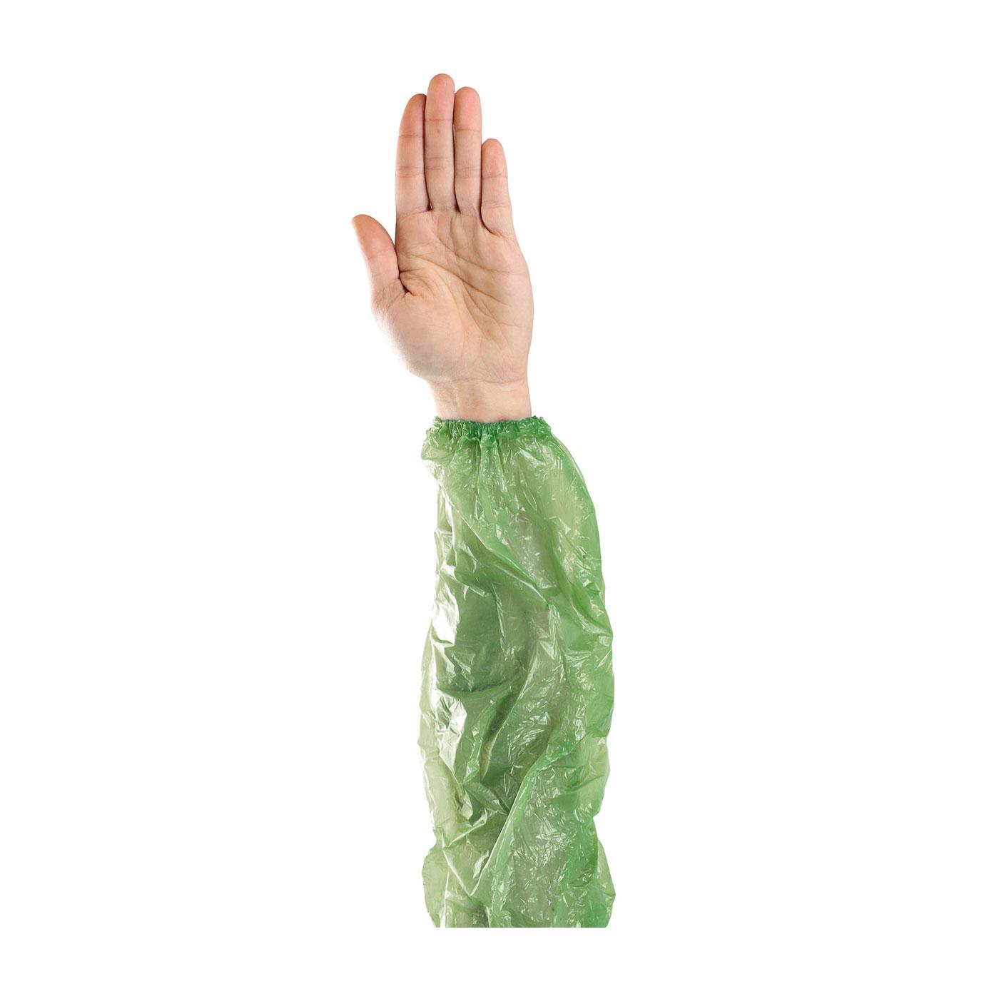 "Single Use Sleeves, Green, 18"""