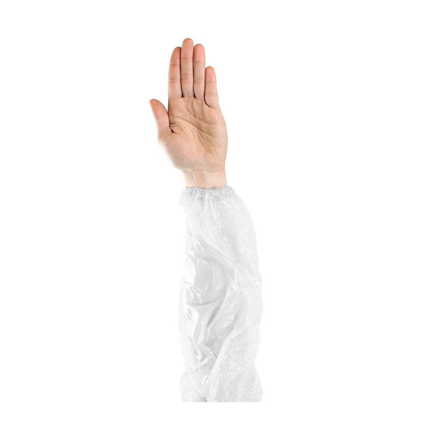 """Single Use Sleeves, White, 18"""""""