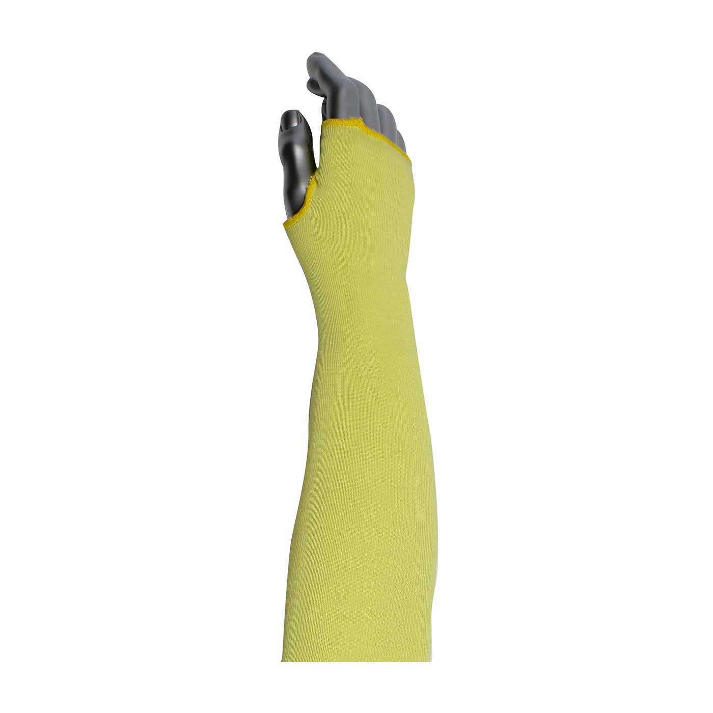 2-Ply Kevlar® Sleeve with Thumb Hole, Yellow, 12""
