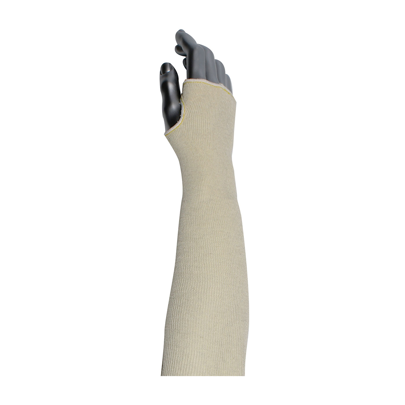 2-Ply Cotton Sleeve with Thumb Hole, Natural, 14""