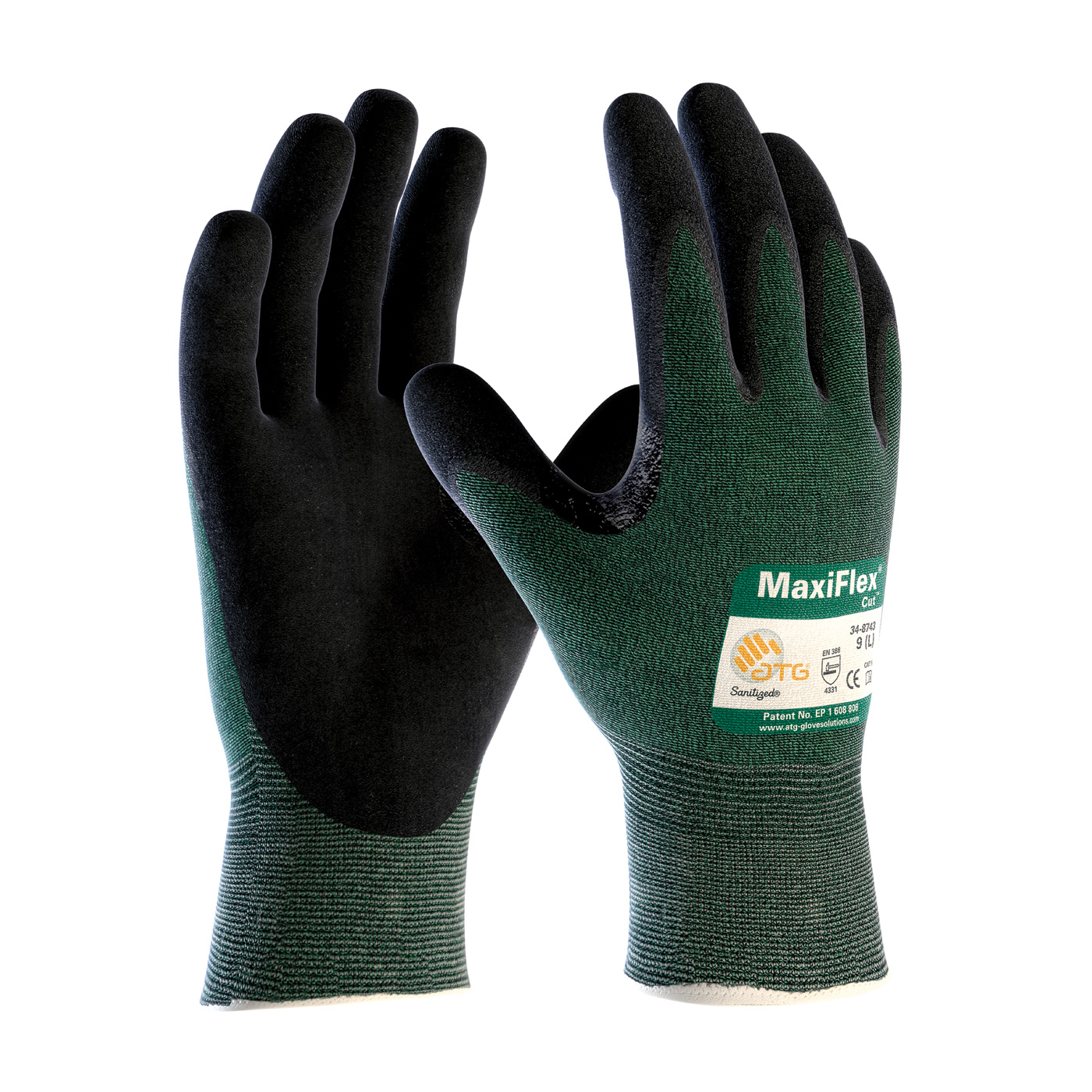 PIP 34-8743/L LARGE MAXIFLEX NITRILE GLOVE CUT LEVEL 3