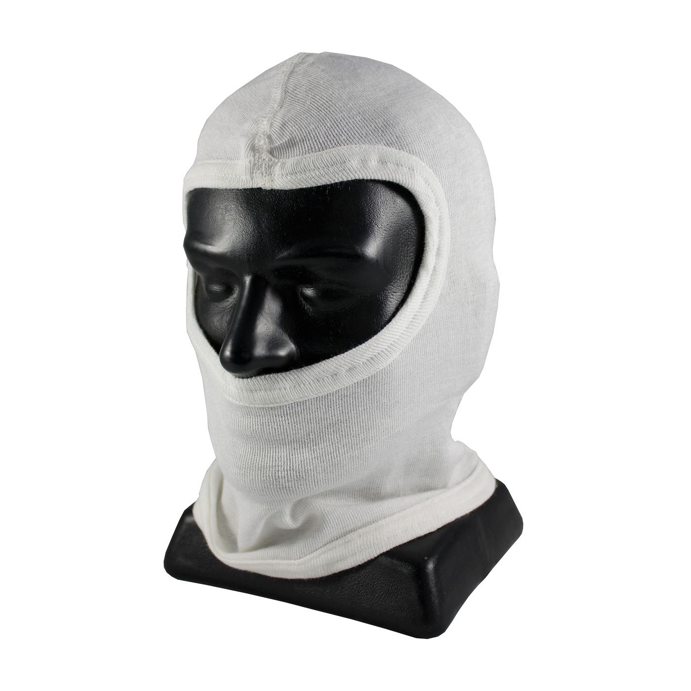 Single-Layer Nomex® Balaclava without Bib - Full Face, White, OS