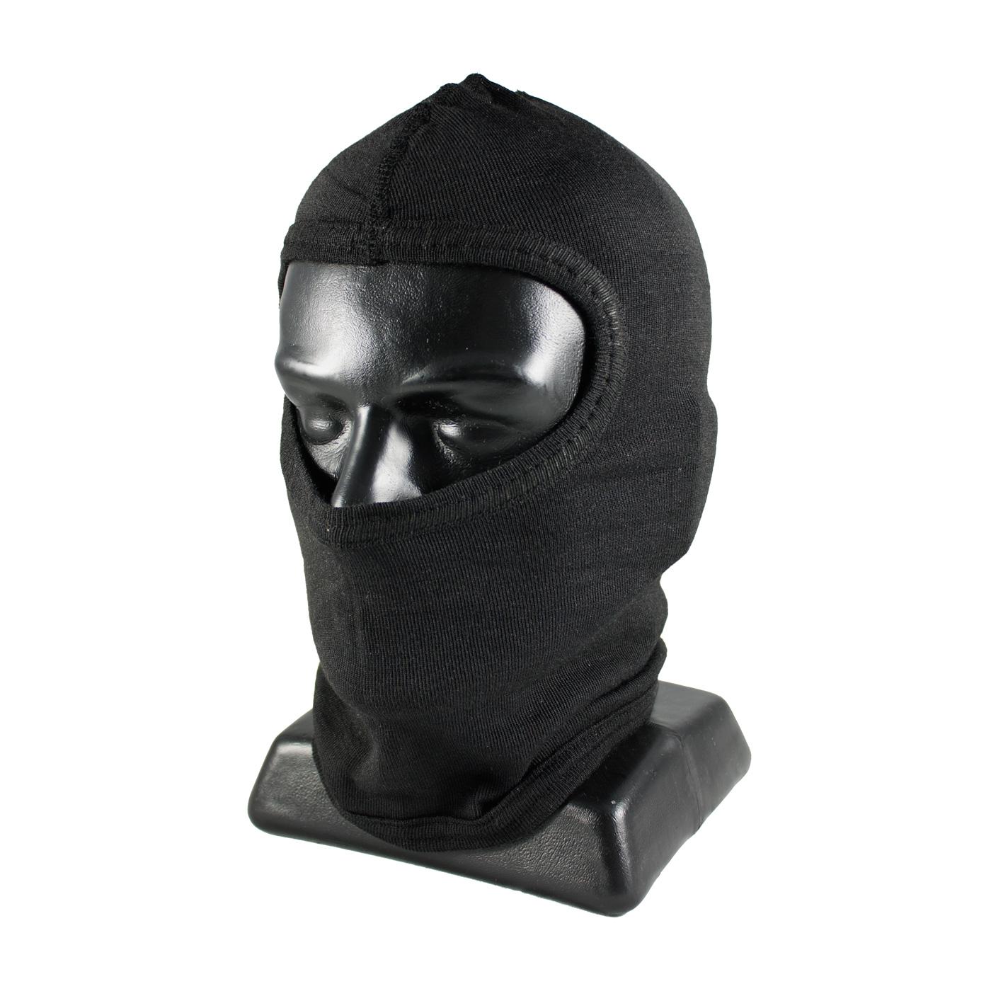 Single-Layer Nomex® Balaclava without Bib - Full Face, Black, OS
