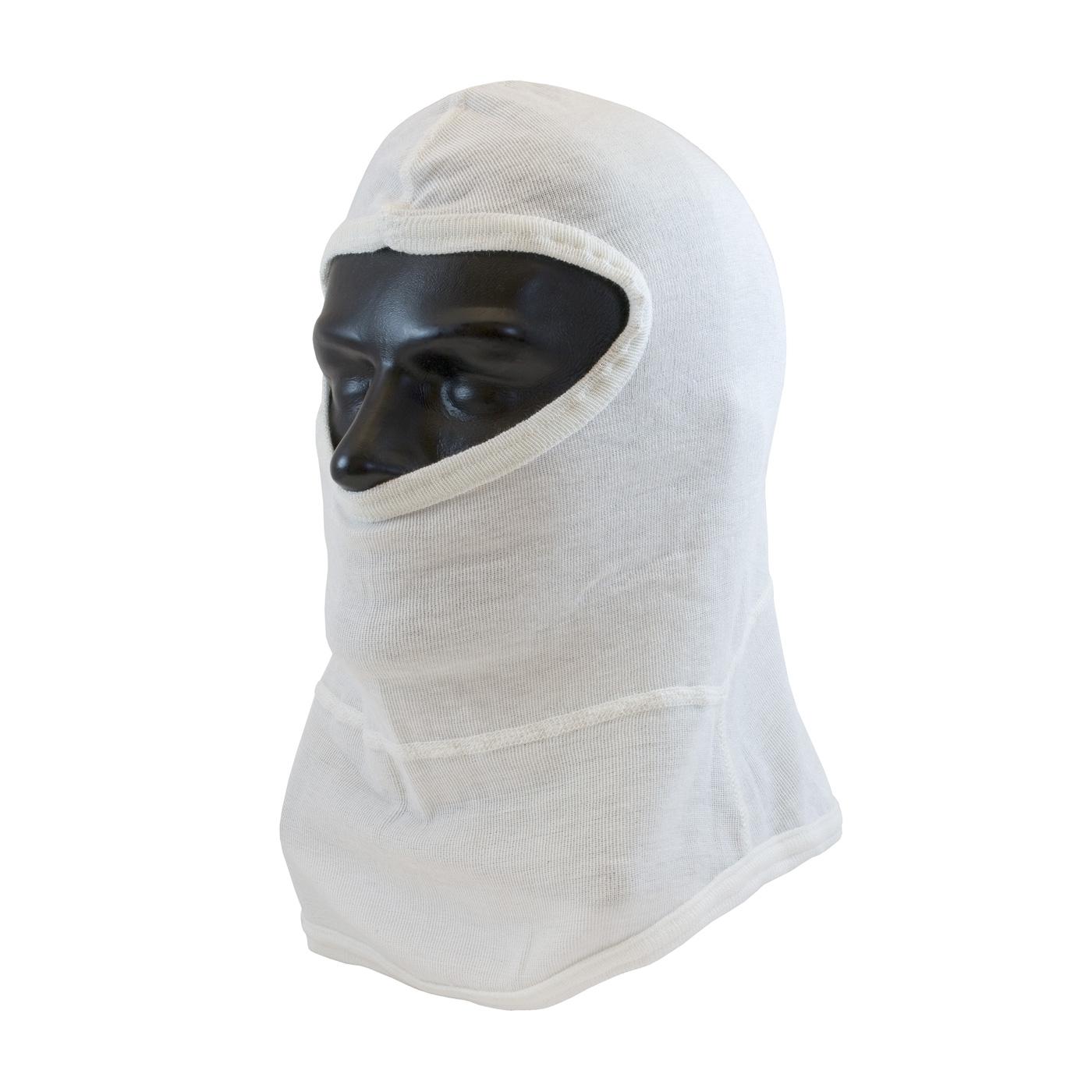 Single-Layer Nomex® Balaclava with Bib - Full Face, White, OS