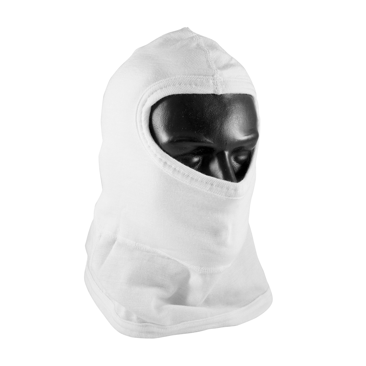 Double-Layer Nomex® Balaclava with Bib - Full Face, White, OS
