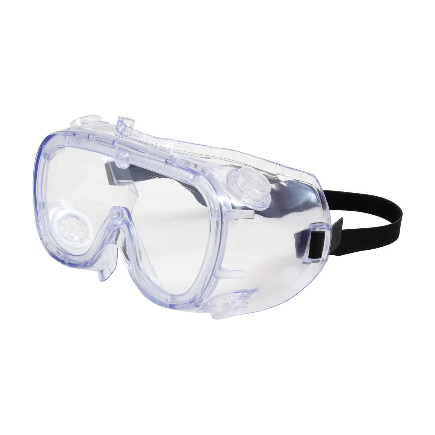 Indirect Vent Goggle with Clear Blue Body, Clear Lens and Anti-Scratch / Anti-Fog Coating, Clear, OS