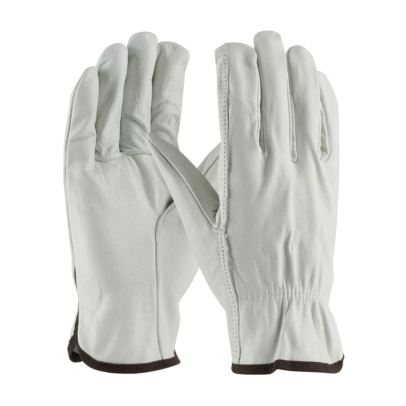 Regular Grade Top Grain Cowhide Leather Drivers Glove - Straight Thumb, Natural, L