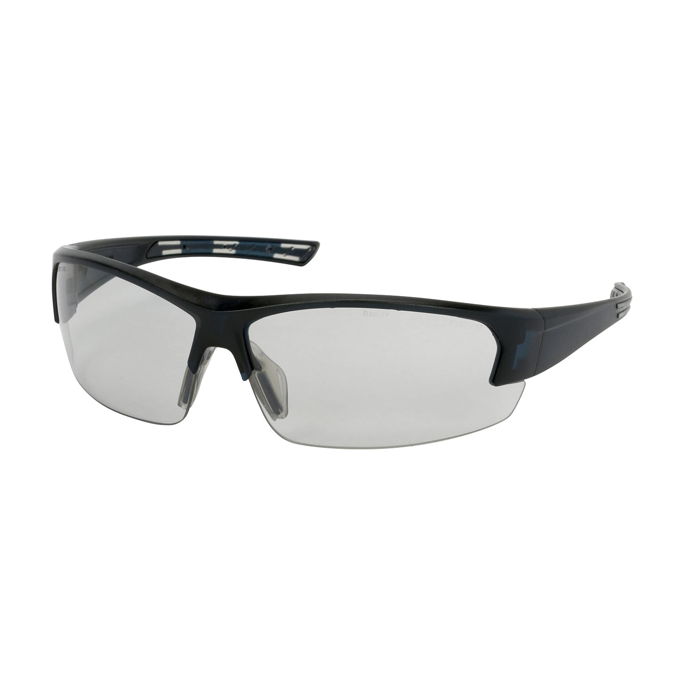 Semi-Rimless Safety Glasses with Dark Blue Frame, Light Gray Lens and FogLess® 3Sixty™ Coating, Dark Blue, OS