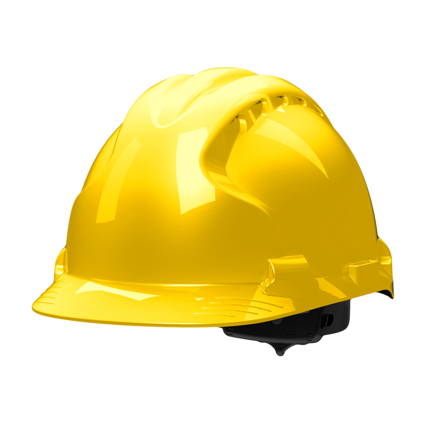 Type II Hard Hat with HDPE Shell, EPS Impact Liner, Polyester Suspension and Wheel Ratchet Adjustment, Yellow, OS