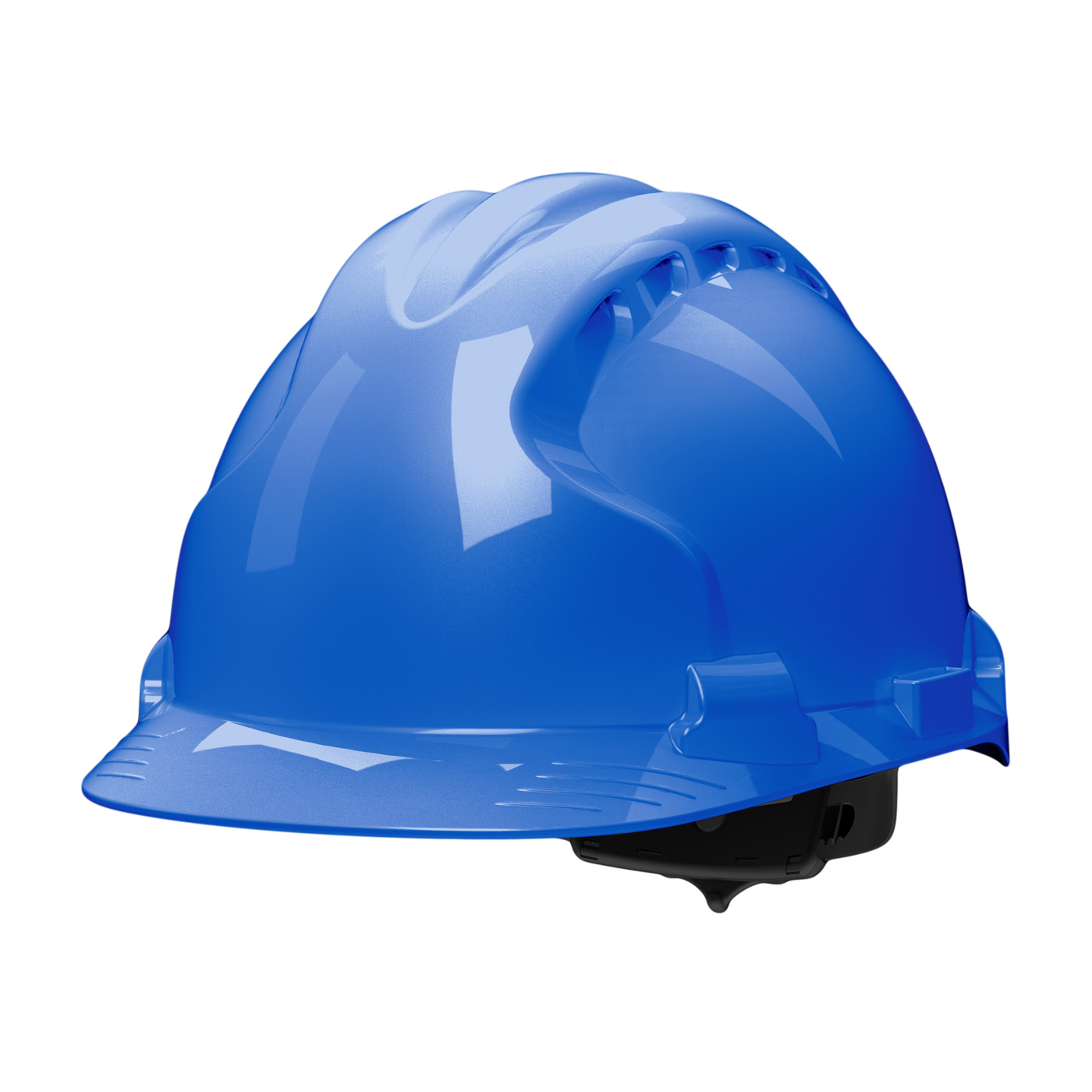 Type II Hard Hat with HDPE Shell, EPS Impact Liner, Polyester Suspension and Wheel Ratchet Adjustment, Blue, OS