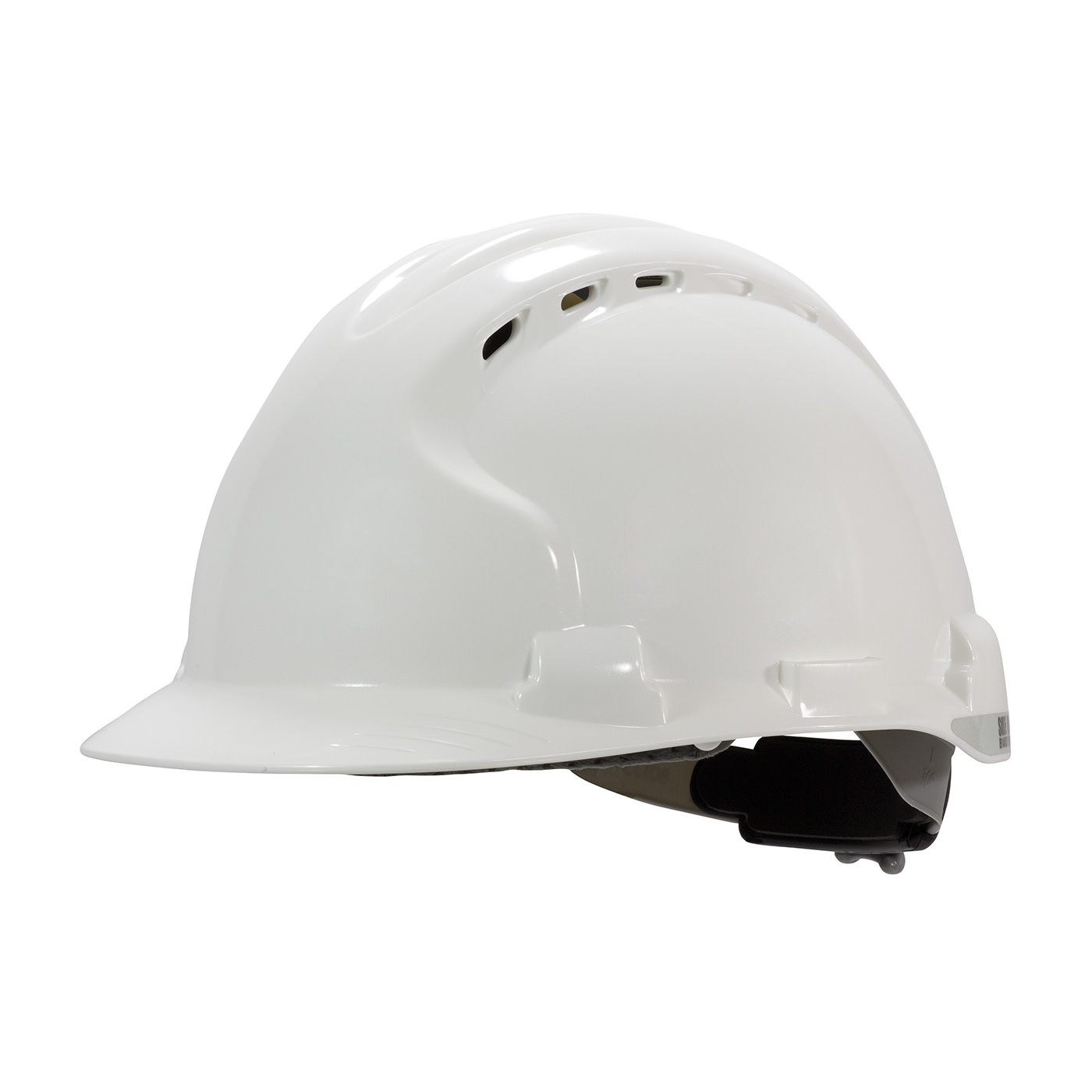 Vented, Type II Hard Hat with HDPE Shell, EPS Impact Liner, Polyester Suspension and Wheel Ratchet Adjustment, White, OS