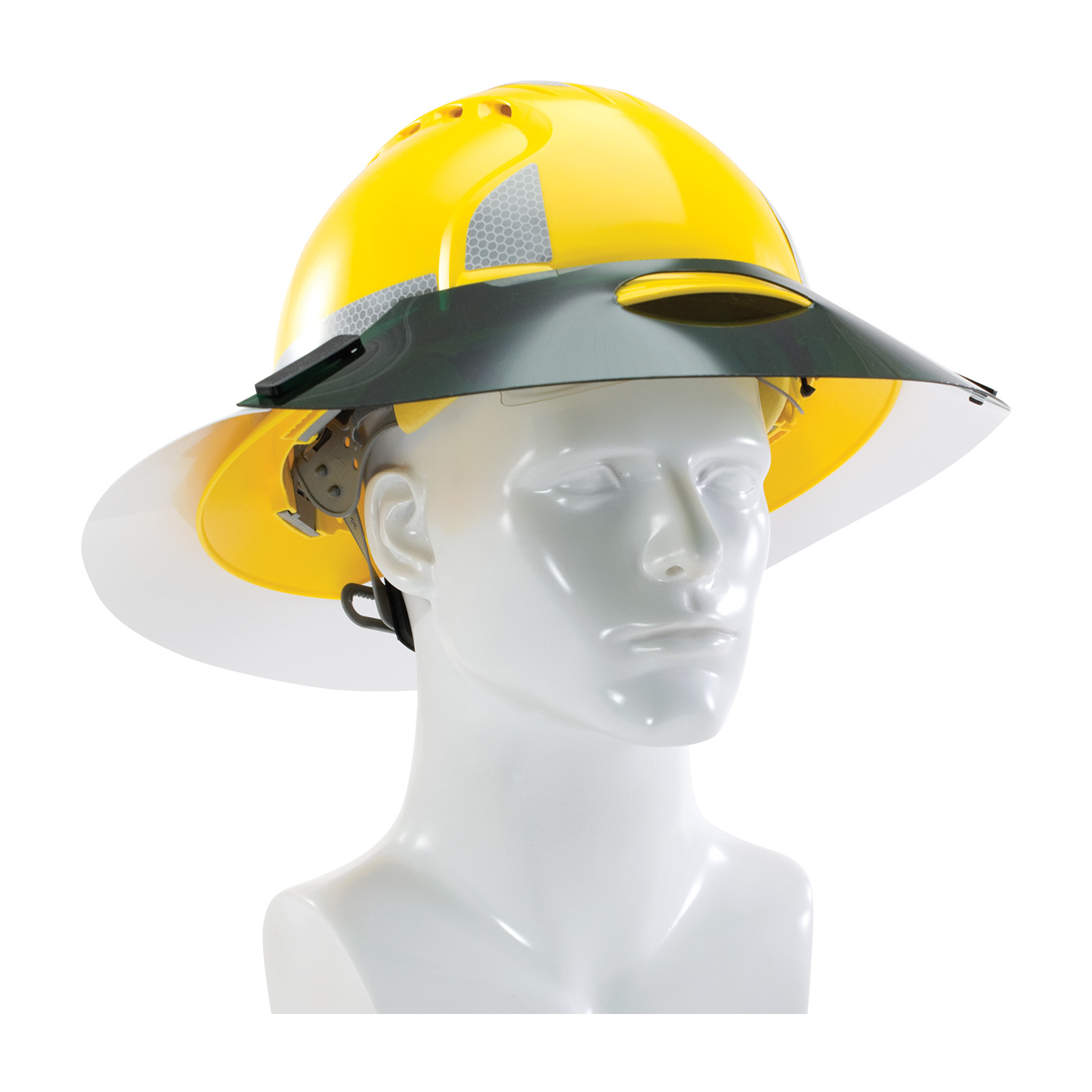 Sun Shade Extensions for Full Brim Hard Hats, Green, OS