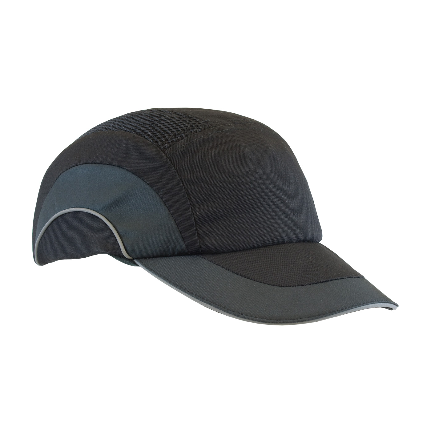 Baseball Style Bump Cap with HDPE Protective Liner and Adjustable Back, Black, OS