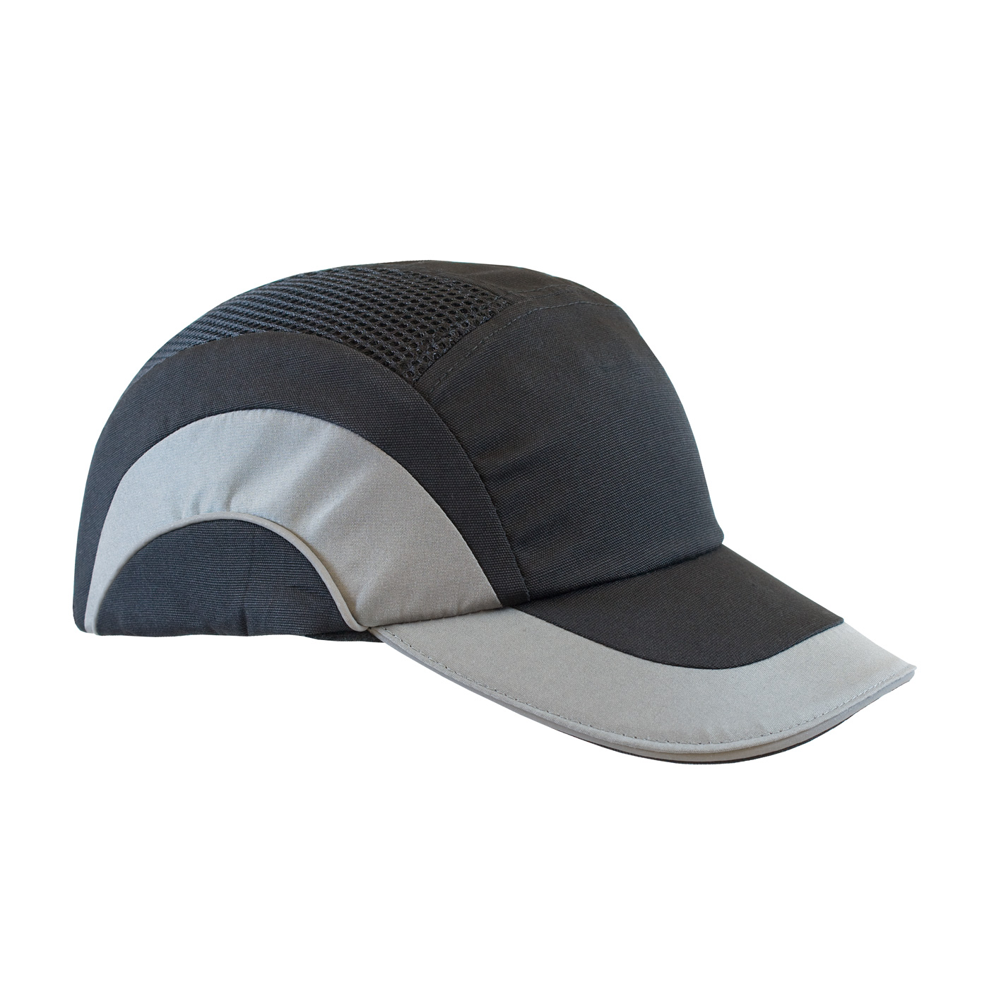 Baseball Style Bump Cap with HDPE Protective Liner and Adjustable Back, Gray, OS