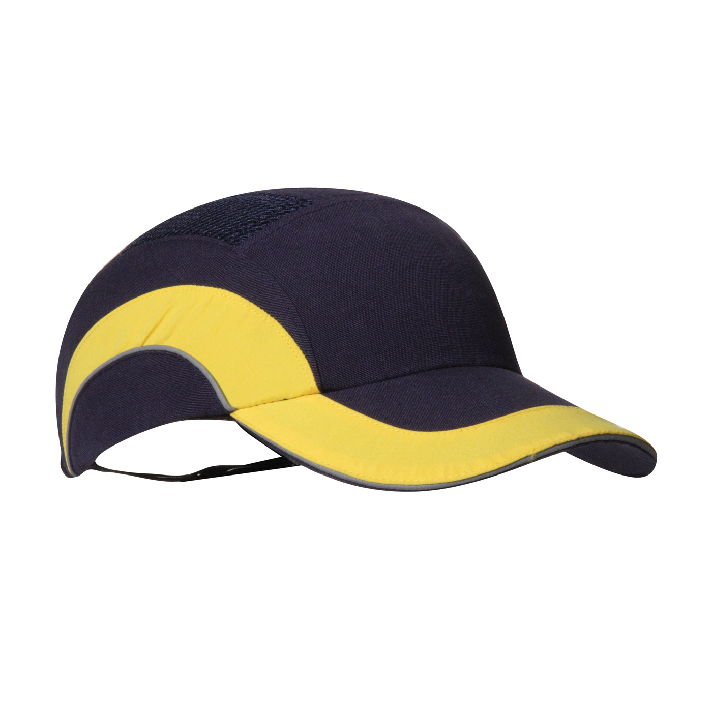 Baseball Style Bump Cap with HDPE Protective Liner and Adjustable Back, Yellow, OS