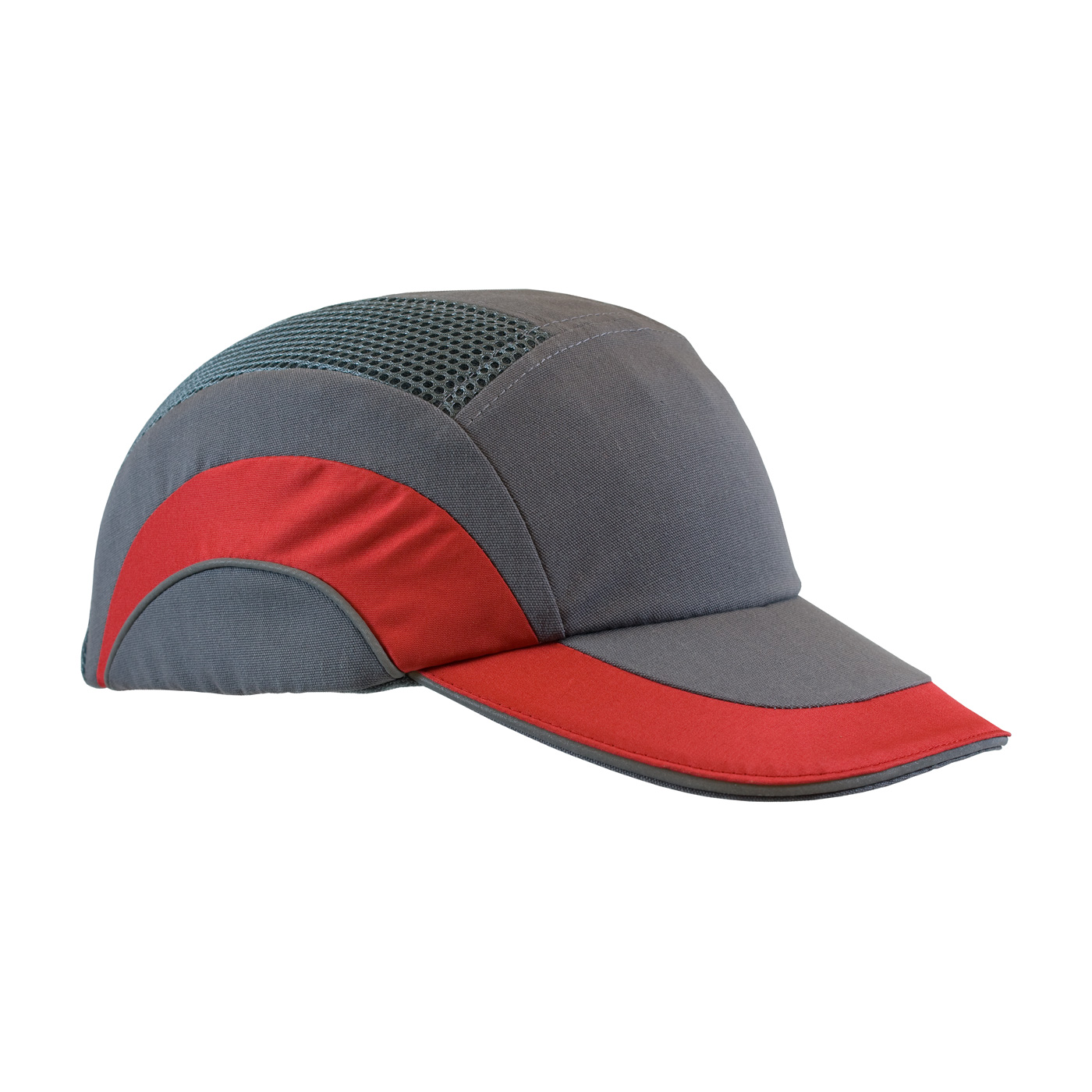 Baseball Style Bump Cap with HDPE Protective Liner and Adjustable Back, Red, OS