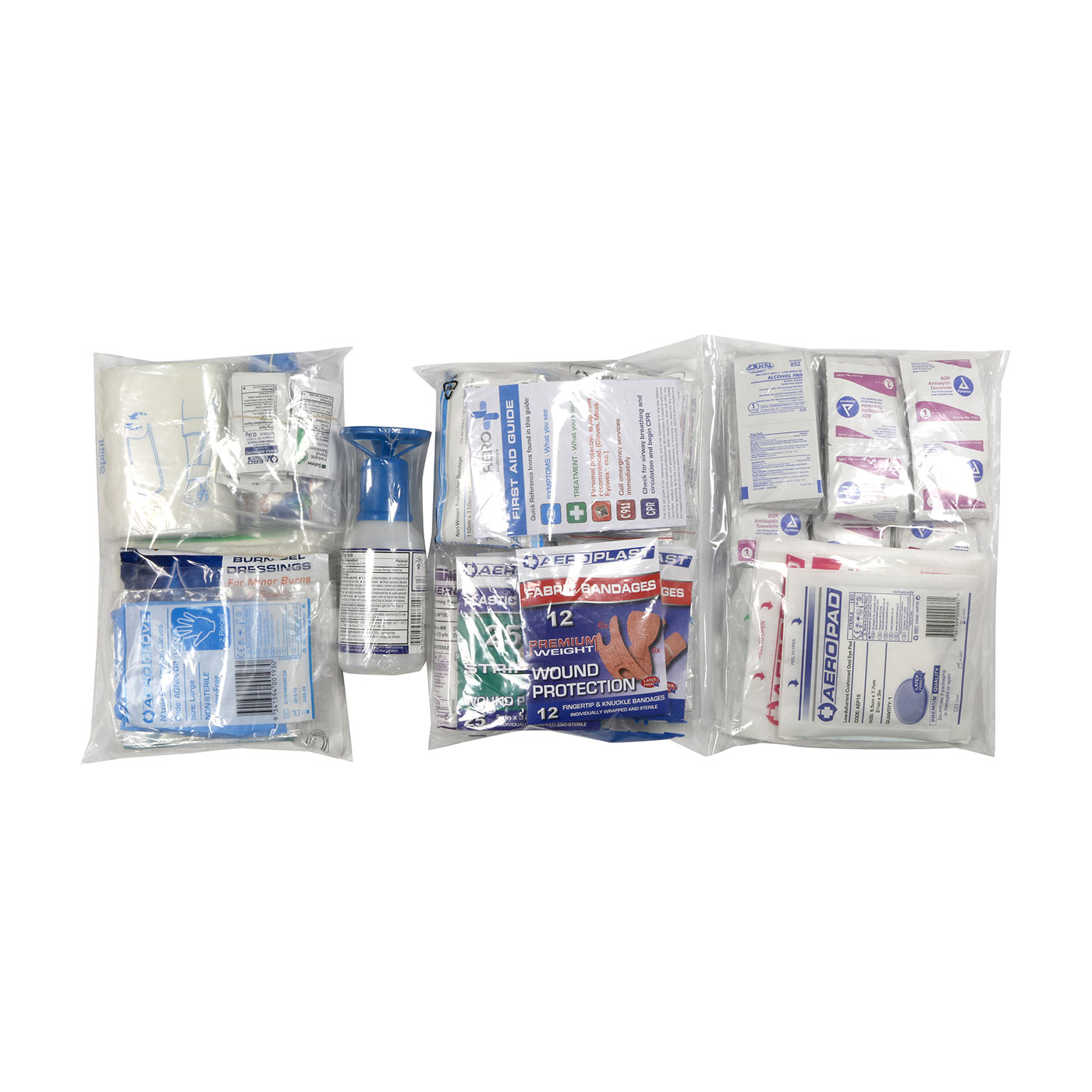 ANSI Class B First Aid Refill Pouches - 50 Person, Clear, KIT