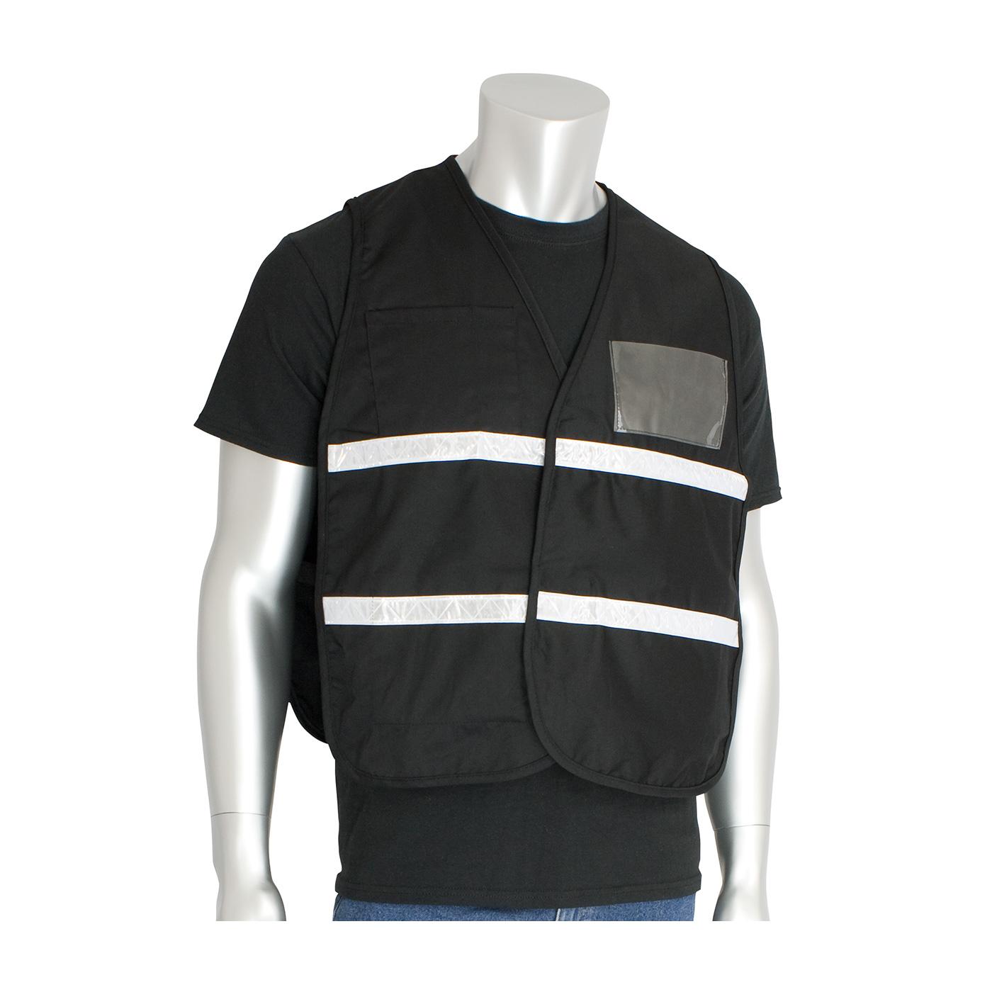 Non-ANSI Incident Command Vest - Cotton/Polyester Blend, Black, 4XL-5XL