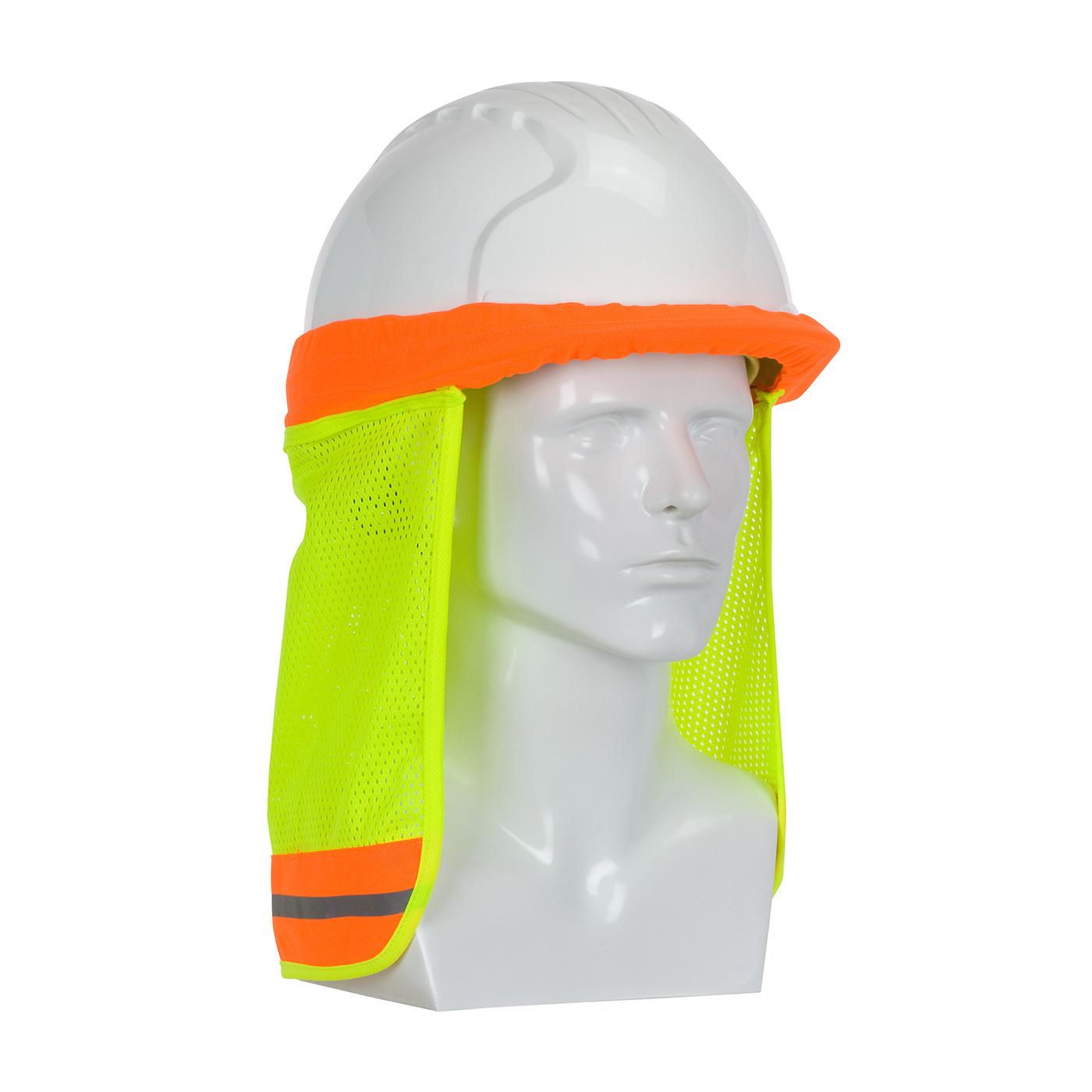 FR Treated Hi-Vis Hard Hat Neck Shade, Hi-Vis Yellow, OS