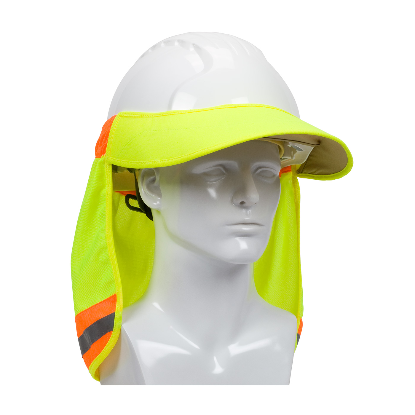 Hi-Vis Hard Hat Visor and Neck Shade, Hi-Vis Yellow, OS