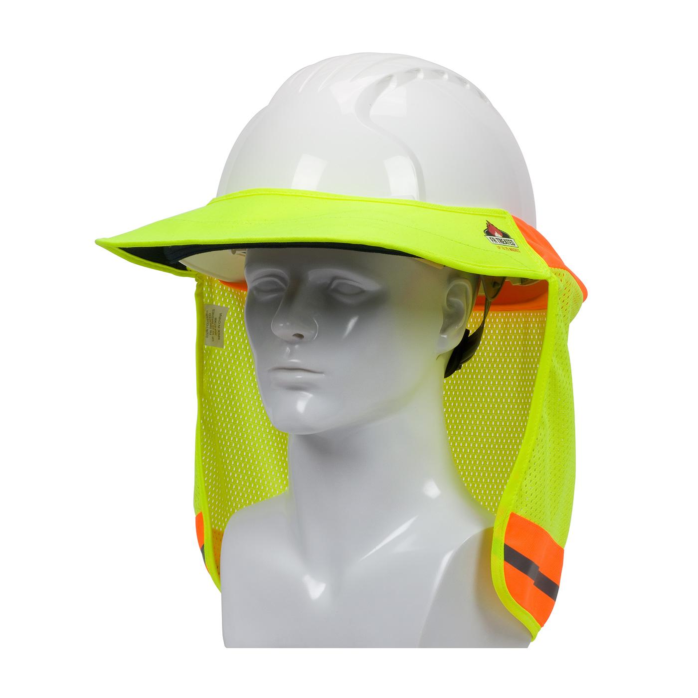 FR Treated Hi-Vis Hard Hat Visor and Neck Shade, Hi-Vis Yellow, OS