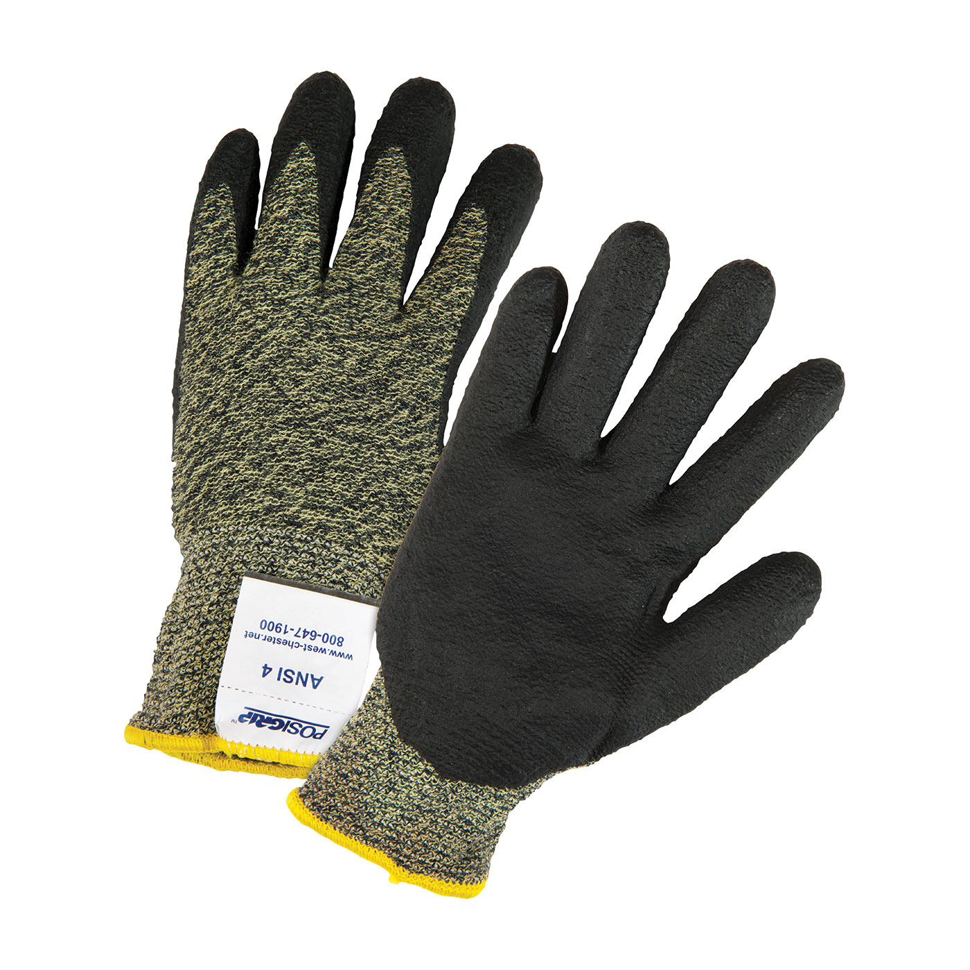 Seamless Knit Aramid Blended Antimicrobial Glove with Nitrile Coated Foam Grip on Palm & Fingers, Green, 2XL