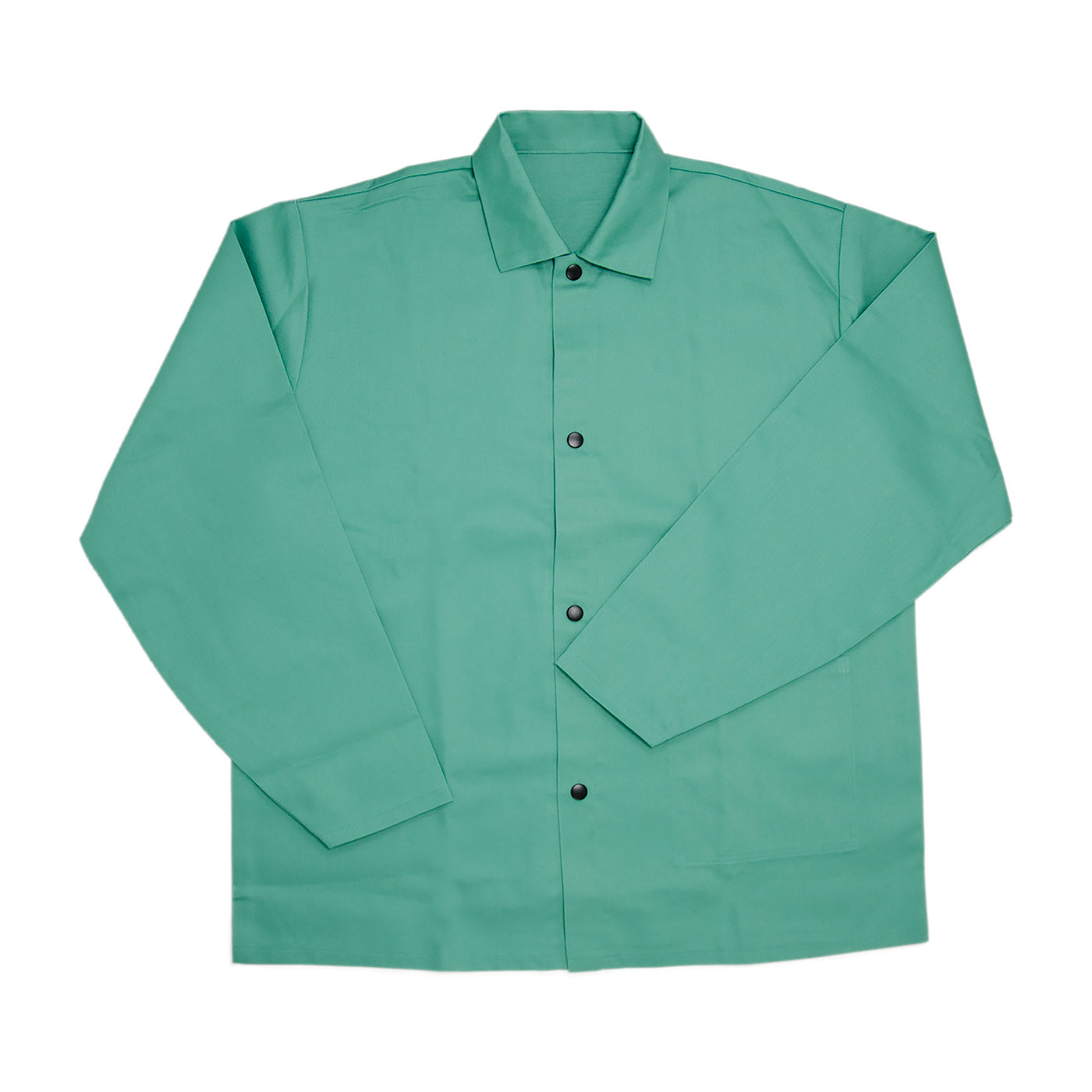 "Economy FR Treated 100% Cotton Welders Jacket - 30"", Green, 2XL"