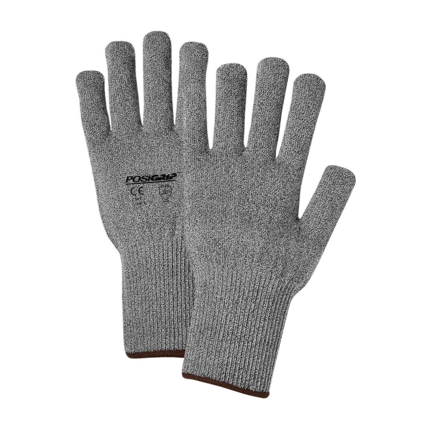 Seamless Knit HPPE Blended Glove - Light Weight, Gray, L