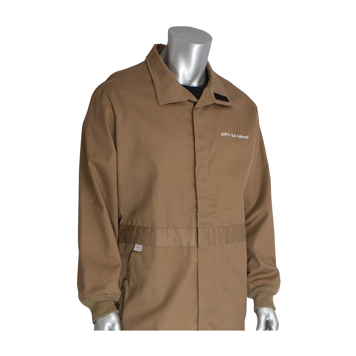 AR/FR Dual Certified Coverall with Insect Repellant - 8 Cal/cm2, Tan, S