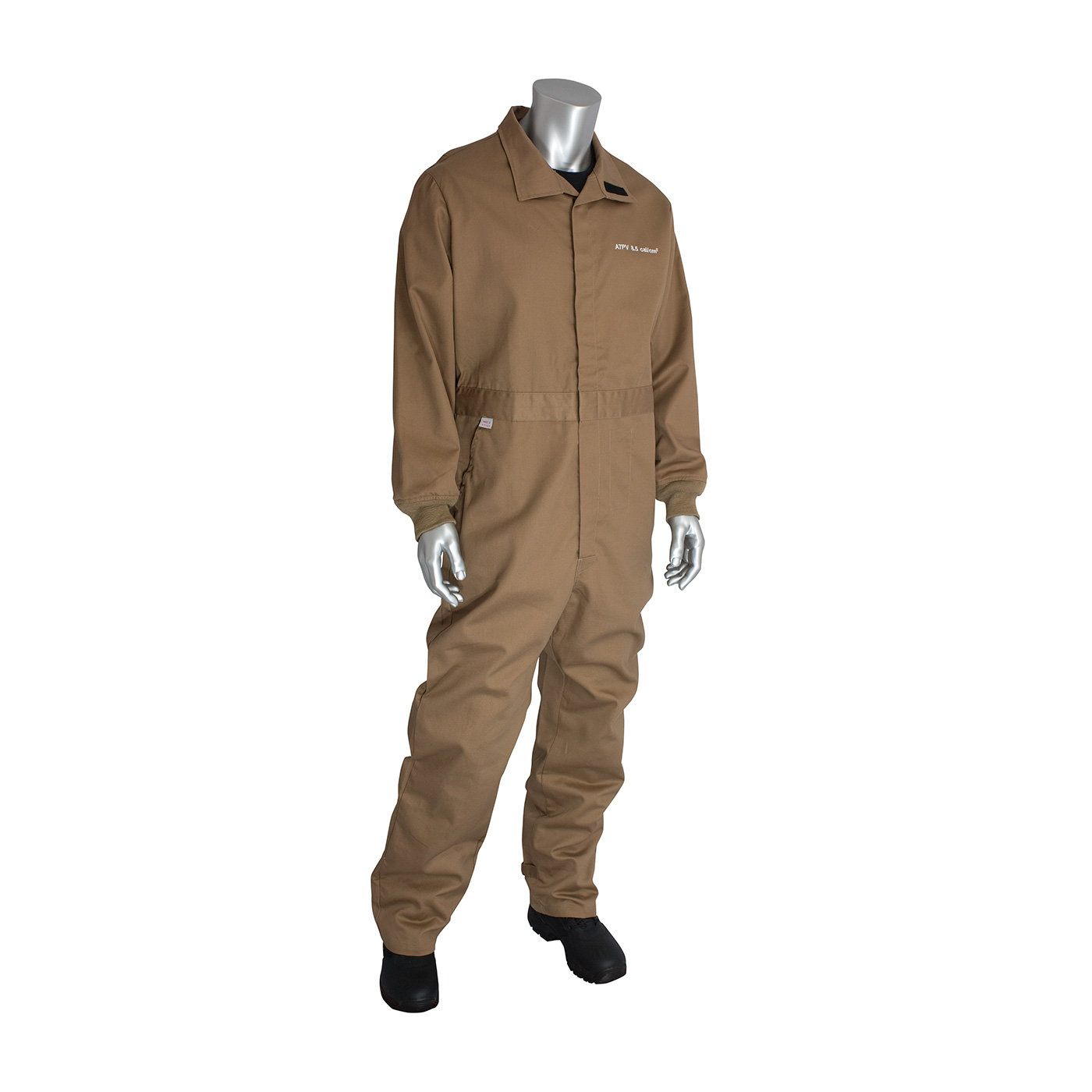 AR/FR Dual Certified Coverall with Vented Back - 8 Cal/cm2, Tan, S