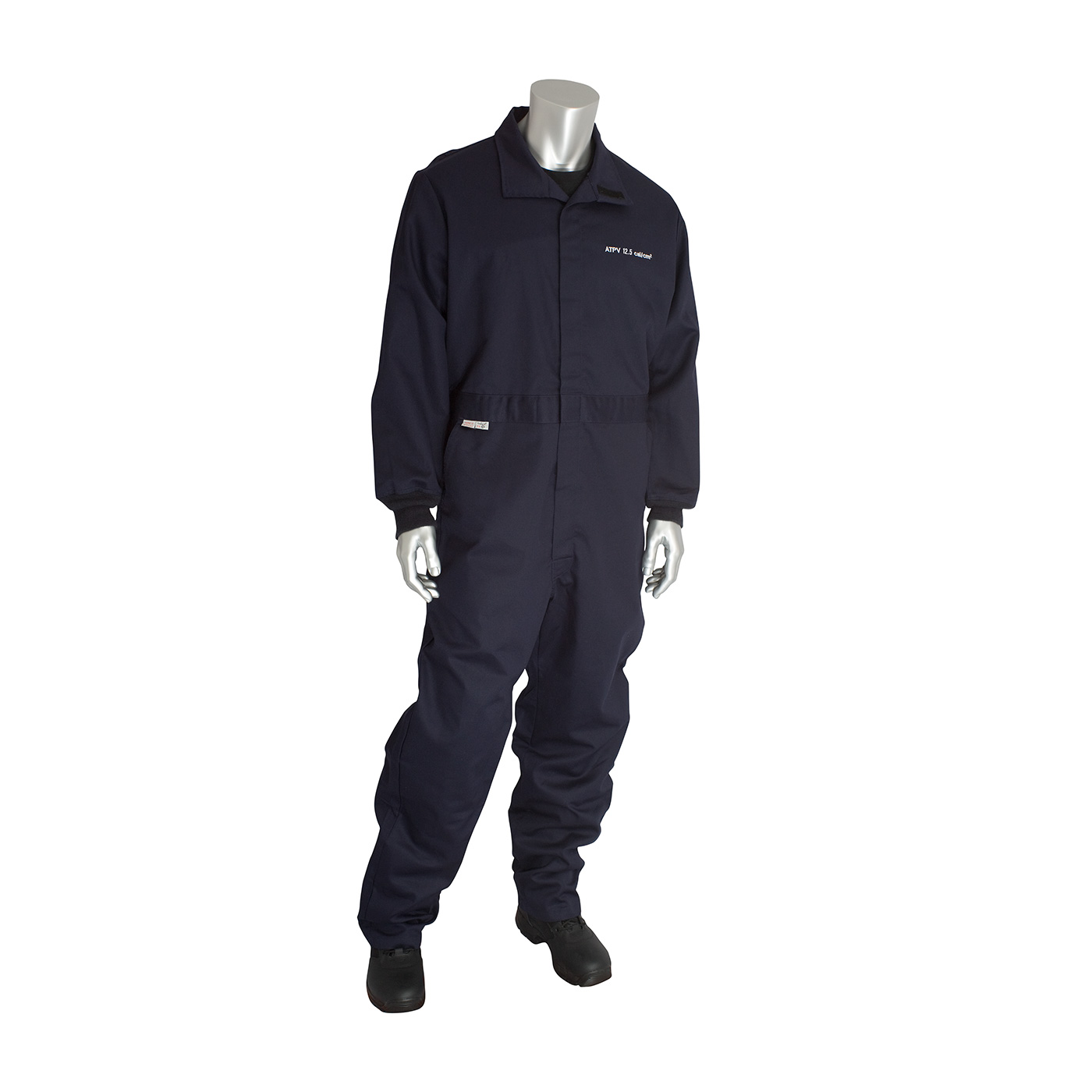 AR/FR Dual Certified Coverall - 12 Cal/cm2, Navy, M