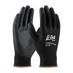 L Size PIP 33-GT125//L G-Tek Touch Sea mLess Knit Polyester Glove with Smooth Grip Pack of 12 Polyurethane