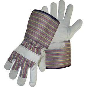Split Leather Palms with Gauntlet Cuffs