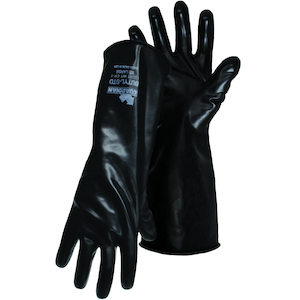 18 Mil Flock Lined with Honeycomb Grip Assurance 48-L185T//M Unsupported Latex Gloves