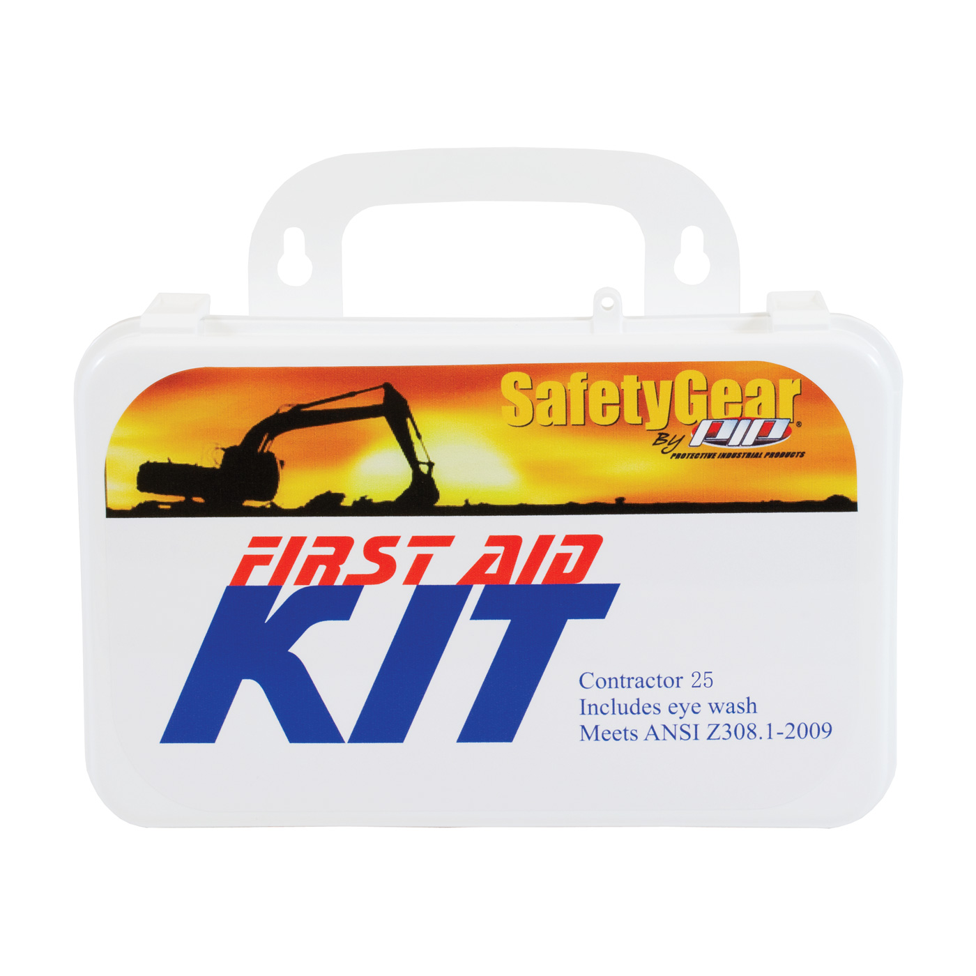 Contractor First Aid Kit - 25 Person, White, KIT