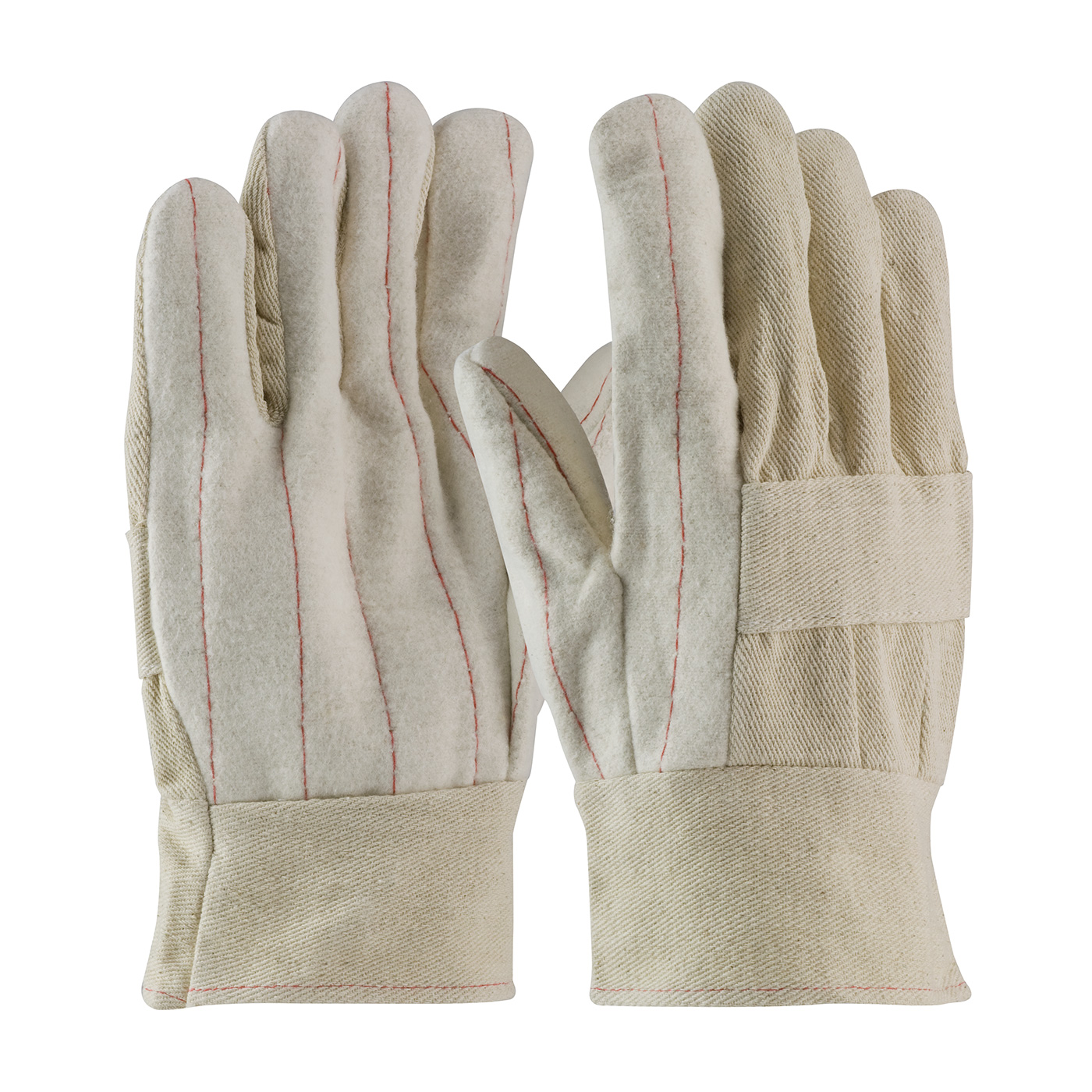 Premium Grade Hot Mill Glove with Two-Layers of Cotton Canvas - 24 oz, Natural, MENS
