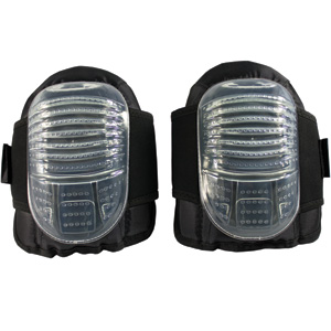 Clear Flat Cap Gel Knee Pads
