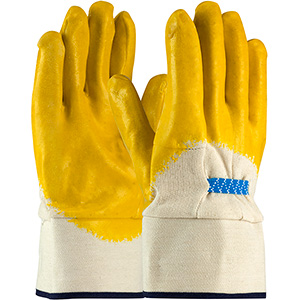Cotton Fabric Gloves with Latex Coatings