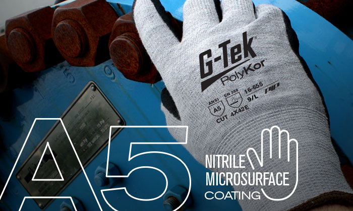 PIP® G-Tek® PolyKor™ Double Dip Nitrile Coated Microsurface Gloves