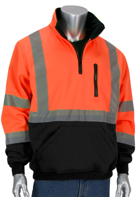 black bottom hi-vis sweatshirt
