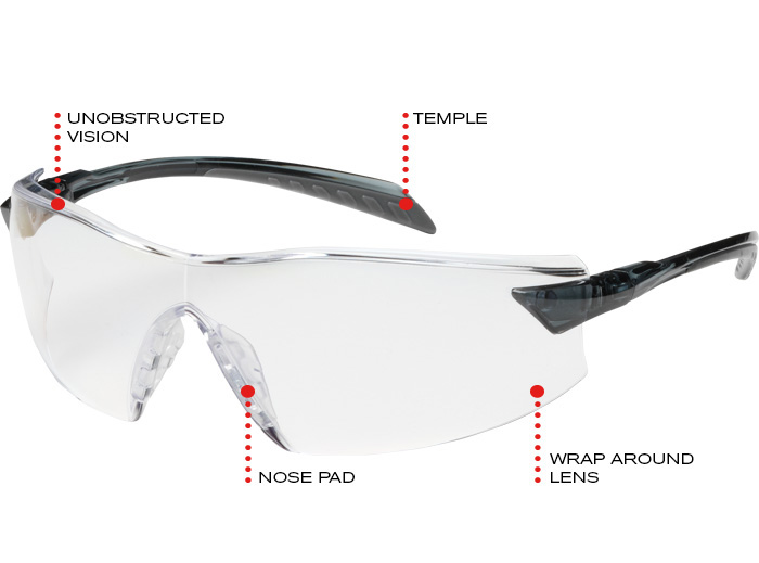 e0f28640cf2f Lighter weight provides all day user comfort • Unobstructed peripheral  vision for users not accustomed to glasses • Superior wraparound lens  design for ...